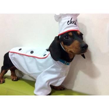 Disfraz de cheff para perro