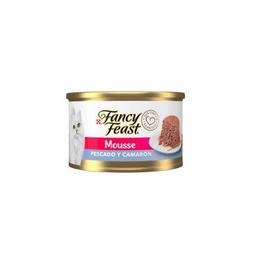FANCY FEAST MOUSSE PESCADO Y CAMARÓN, ENLATADO 85 g