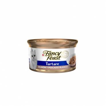 FANCY FEAST  TARTARE SALMÓN Y PESCADO BLANCO, ENLATADO 85 g